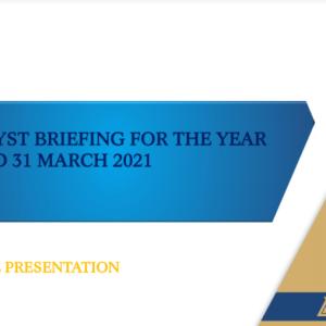 Delta Presentation to analysts 10 June 2021