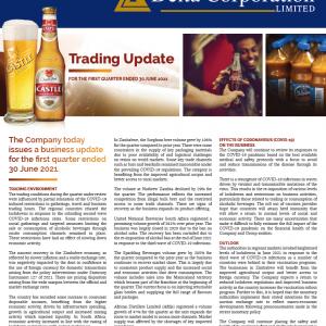 Delta  Corporation Q1 F22 Trading Update