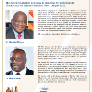 APPOINTMENT OF NON-EXECUTIVE DIRECTORS